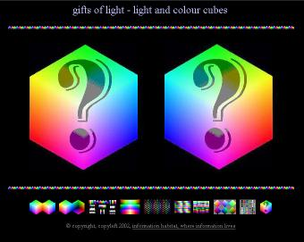 Light and Colour Cubes: Gifts of Light